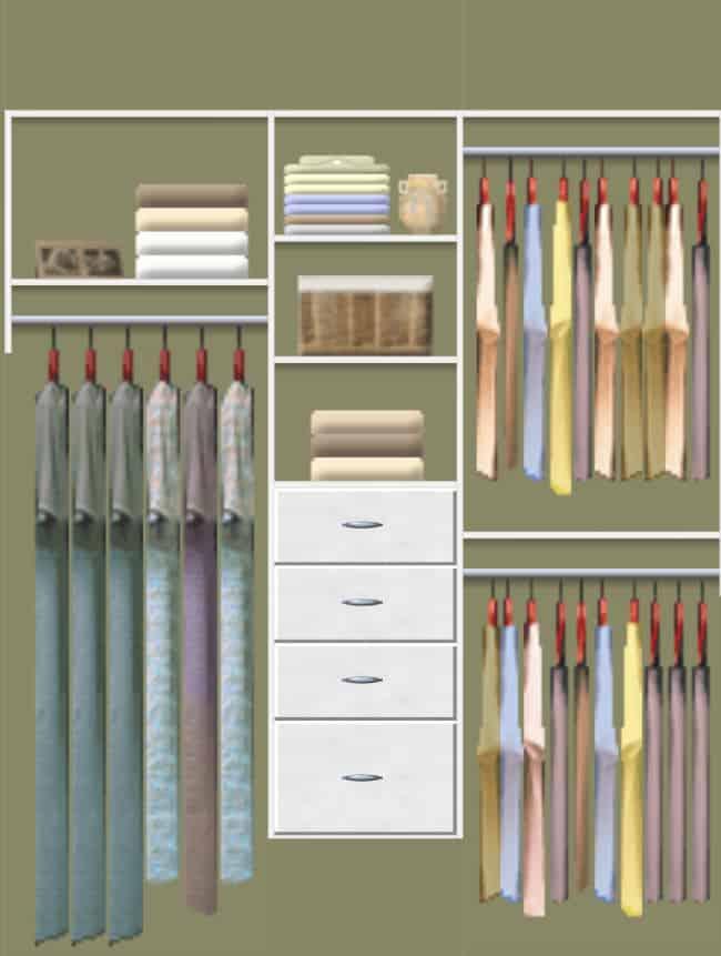 Easy Closets- diy closet system