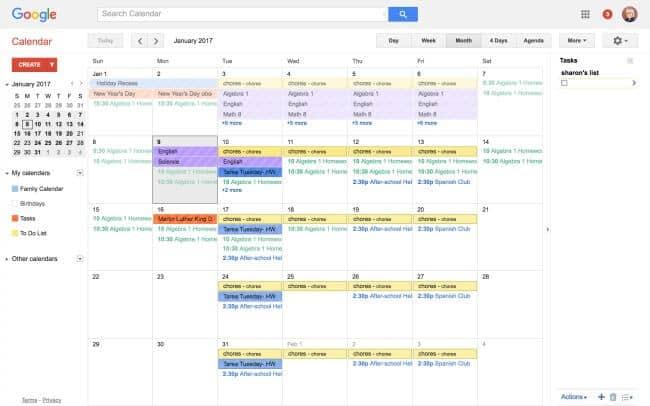 Family Calendar Sharing : The best family calendars for momof