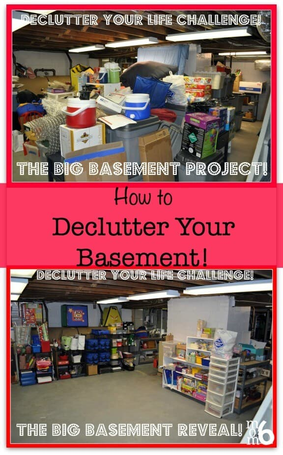 declutter your life the big basement challenge and reveal momof6. Black Bedroom Furniture Sets. Home Design Ideas