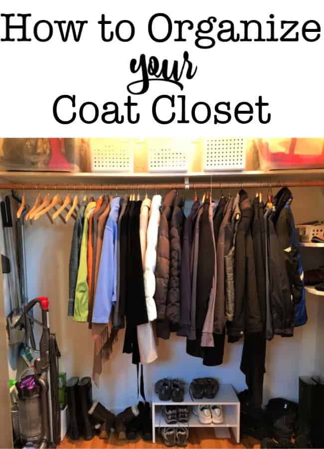 Here's how to clean out and organize your coat closet, because if you have guests coming over, it's nice to have a place to put all of their coats, boots, and gear!