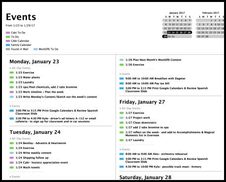 List View Apple Calendar