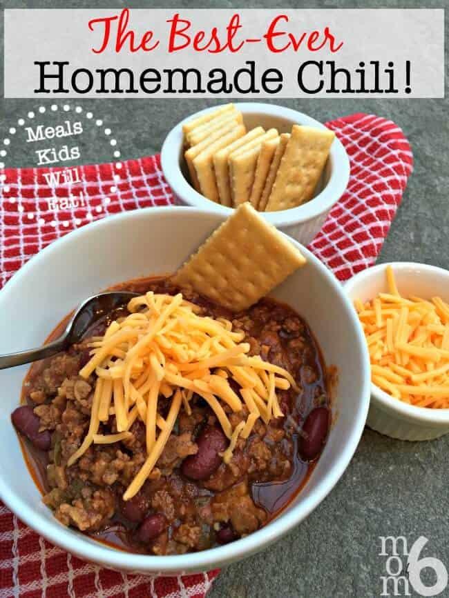 The Best Ever Homemade Chili Momof6