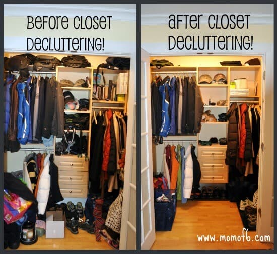how to clean out your closet momof6. Black Bedroom Furniture Sets. Home Design Ideas