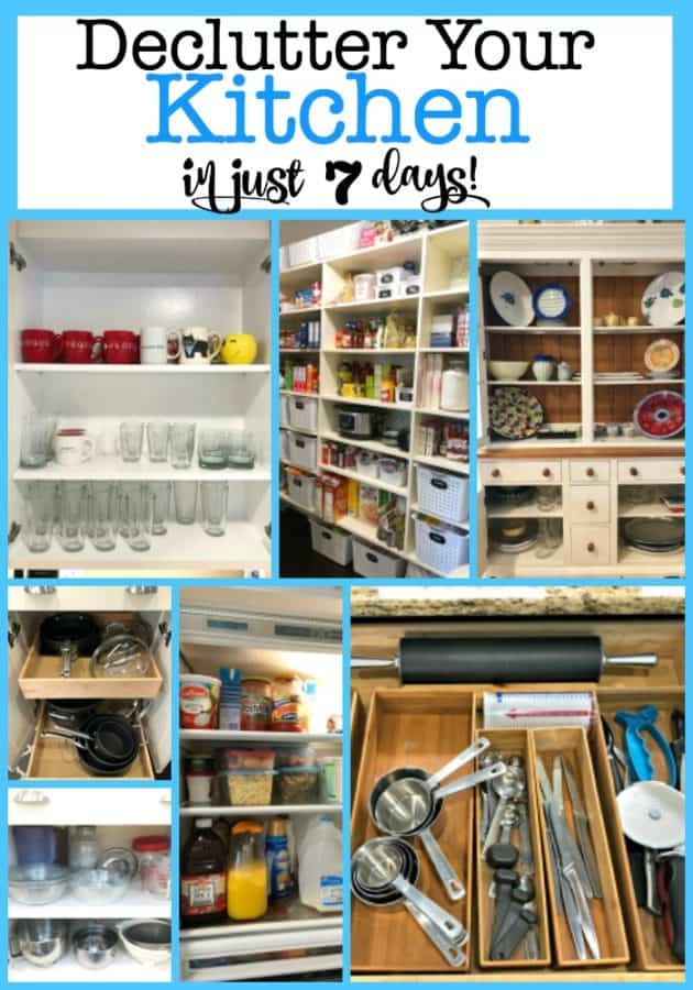 The kitchen is one area that manages to accumulate all kinds of clutter- and every so often you need to go through what you own and declutter your kitchen. I'm going to show you how to do it in just 7 days!