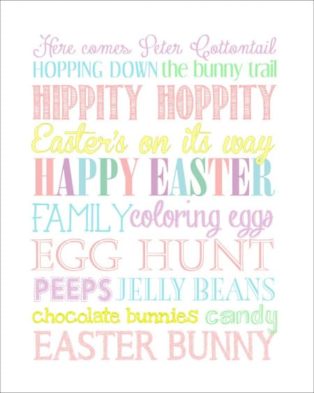 Here comes Peter Cottontail printable