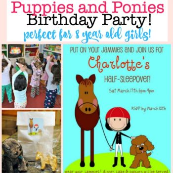 8 Year Old Girls Birthday Party Idea: Puppies and Ponies!