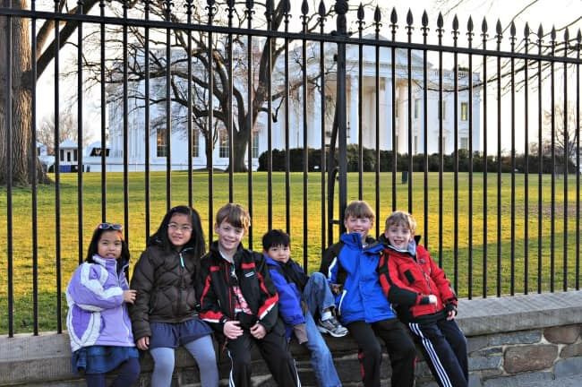 pics in front of the White House in Washington DC