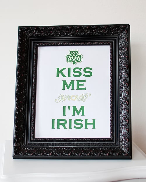 Kiss Me I'm Irish printable