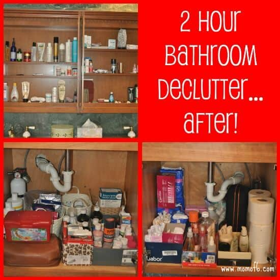 You know it's time to declutter your bathroom when you open up cabinets and drawers, and you shudder that you've accumulated SO MUCH STUFF! I mean, how in the world did this happen? And pretty soon you've gone from not even noticing it, to not being able to stand it. Here's how to do it in just two hours!