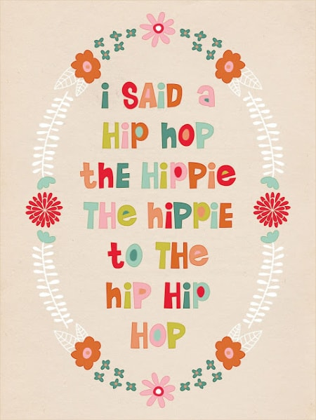 hip hop printable for Easter