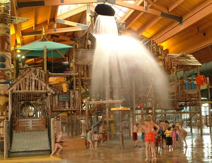 A great idea for an overnight getaway during Spring Break is the indoor water park at the Great Wolf Lodge! And since admission to the water park is included in the price of the hotel stay- you get to enjoy two fun-filled days on the water slides with an overnight stay AND the decadence of staying in a nice hotel room. I've got a few tips to share with you on how save a little money during your visit to the Great Wolf Lodge too... check 'em out!
