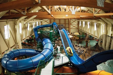 water coaster at Great Wolf Lodge