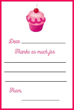 Pinkalicious thank you note