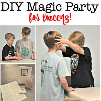 DIY Magic Party- Perfect for a Tween Birthday!