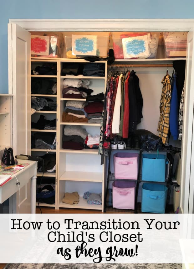 Kids closets are usually making two types of transitions- from one size to the next, and from one season to the next. And every time you transition seasons, the size changes become REALLY obvious as they have grown during that time too! So here are my strategies on how to transition your kids closet as they grow!
