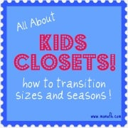 How to Transition Your Child's Closet