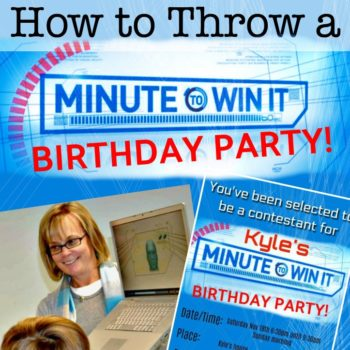 Great 10 Year Old Boys Birthday Idea Minute To Win It Party