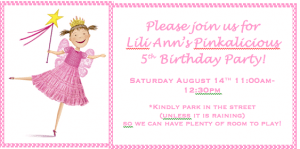 Great 5 Year Old Birthday Party Idea: A Pinkalicious Party!