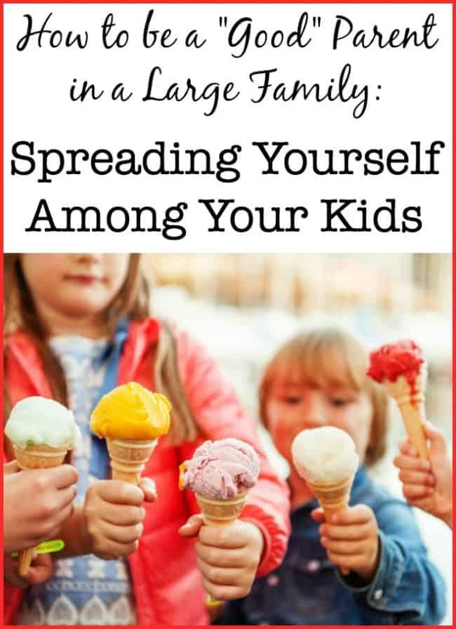 I know that I am not the only parent of a large family who feels the guilt of not spending enough dedicated one-on-one time with each child. Spreading myself among all of my kids is one of the great balancing acts of parenthood! #LargeFamily #Parenting #SpreadThin #Balance