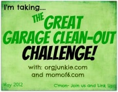 The Great Garage Clean Out Challenge!