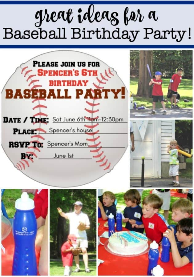 "You don't have to ""take me out to the ball game""! Just invite the guests over to your house or a nearby park to host your own baseball birthday party! I've got lots of great ideas and tips in this post!"