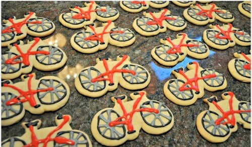 bicycle birthday party favors