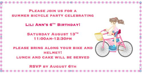 Great Idea For A 6 Year Old Birthday Party Bike Decorating