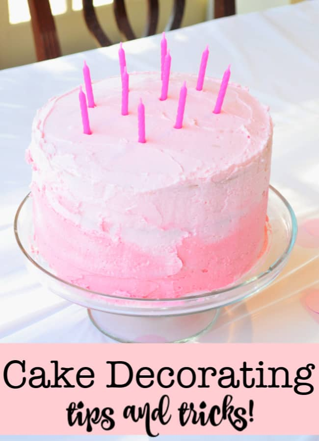 I just love baking cakes for my kids- but decorating them? Not so much! But with these awesome cake decorating tips and tricks I'm going to up my cake and cupcake game!
