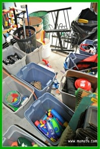 The Great Garage Clean-Out Challenge: Organize Into Piles