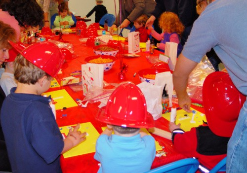 fire truck birthday party crafts
