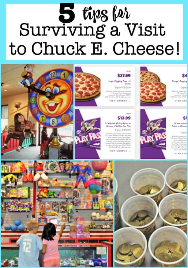 The day will come when you'll decide to treat your kiddos to an afternoon at this local house-of-mouse, and you'll be glad that I shared these 5 Tips for Surviving a Visit to Chuck E. Cheese!