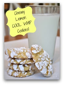 This simple recipe consists of just three ingredients and bake up the chewiest most delicious lemon cookies you'll ever eat!