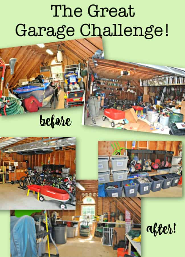 I can hardly believe that my husband I made such a transformation in this disaster of a garage! But after some focused work- we have completed the Great Garage Clean Out Challenge!
