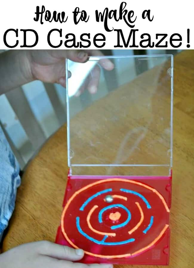 Heres How To Make A CD Case Maze With Your Kids Love Do