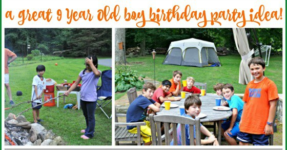 Great 9 Year Old Boy Birthday Party Idea Backyard Camping Sleepover
