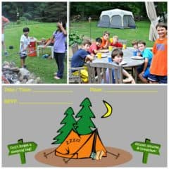 Great 9 Year Old Boy Birthday Party Idea: Backyard Camping Birthday Party Sleepover!