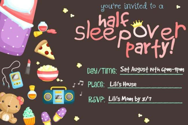 The half sleepover birthday party is the perfect idea for tweens! It has all the benefits of a sleepover party- girls wearing their jammies and snuggling up together to watch a movie and eat popcorn- without the actual sleeping over part! It's one of our favorite kids birthday parties to host!