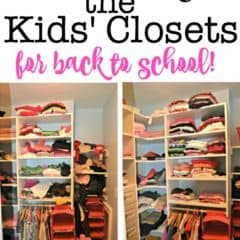 How to Organize the Kids Closets for Back to School