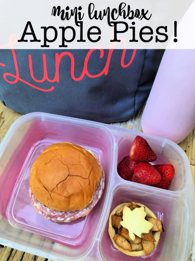 School lunches are so much more fun when you include a special homemade dessert! We love to make these mini lunchbox apple pies on the weekend so everyone can enjoy them all week long!