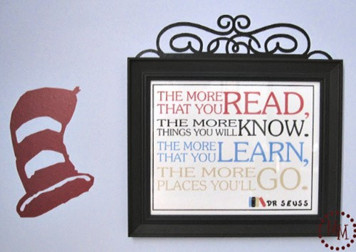 Suess inspired wall art