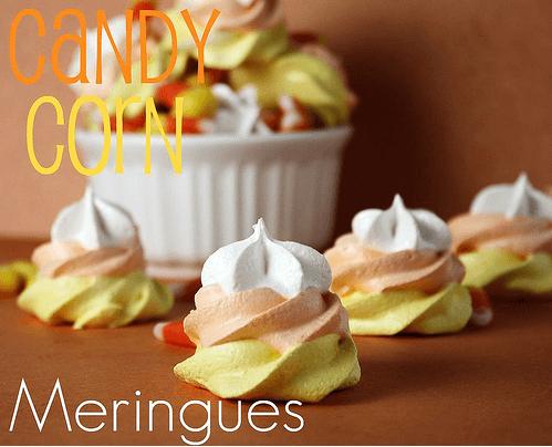 candy corn meringue cookies