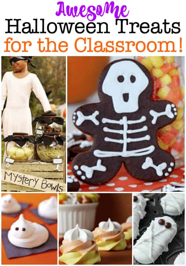 Here are a few ideas for Halloween treats for the classroom to help you plan that class party! #HalloweenTreats #HalloweenClassParty #HalloweenParty #HalloweenFood