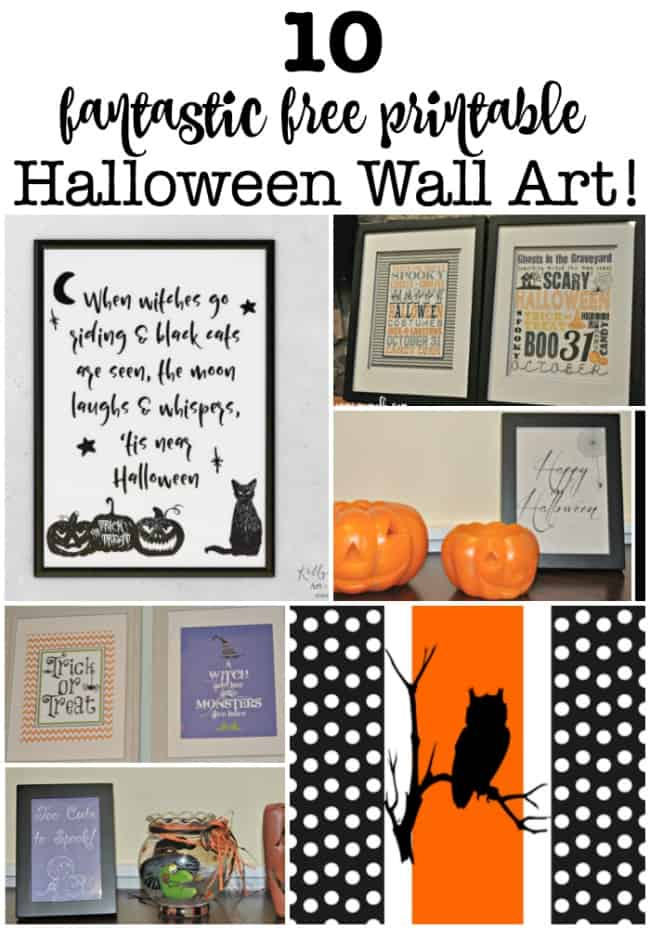 I love to decorate my home for the holidays using these free Halloween subway art printables!