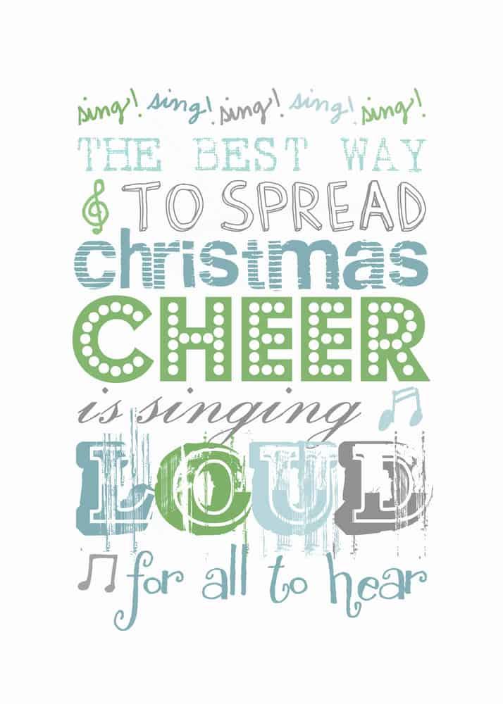 spread Christmas cheer subway art