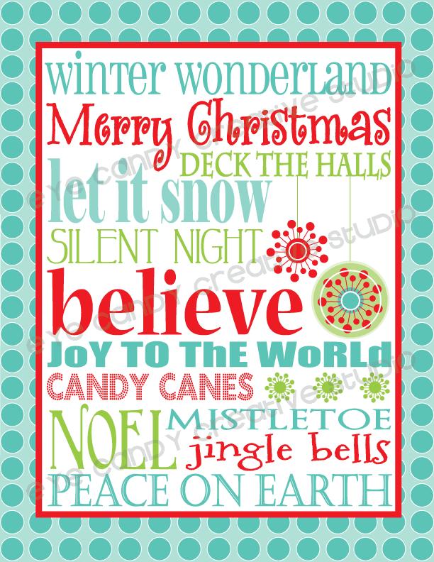 Christmas printable: Winter wonderland