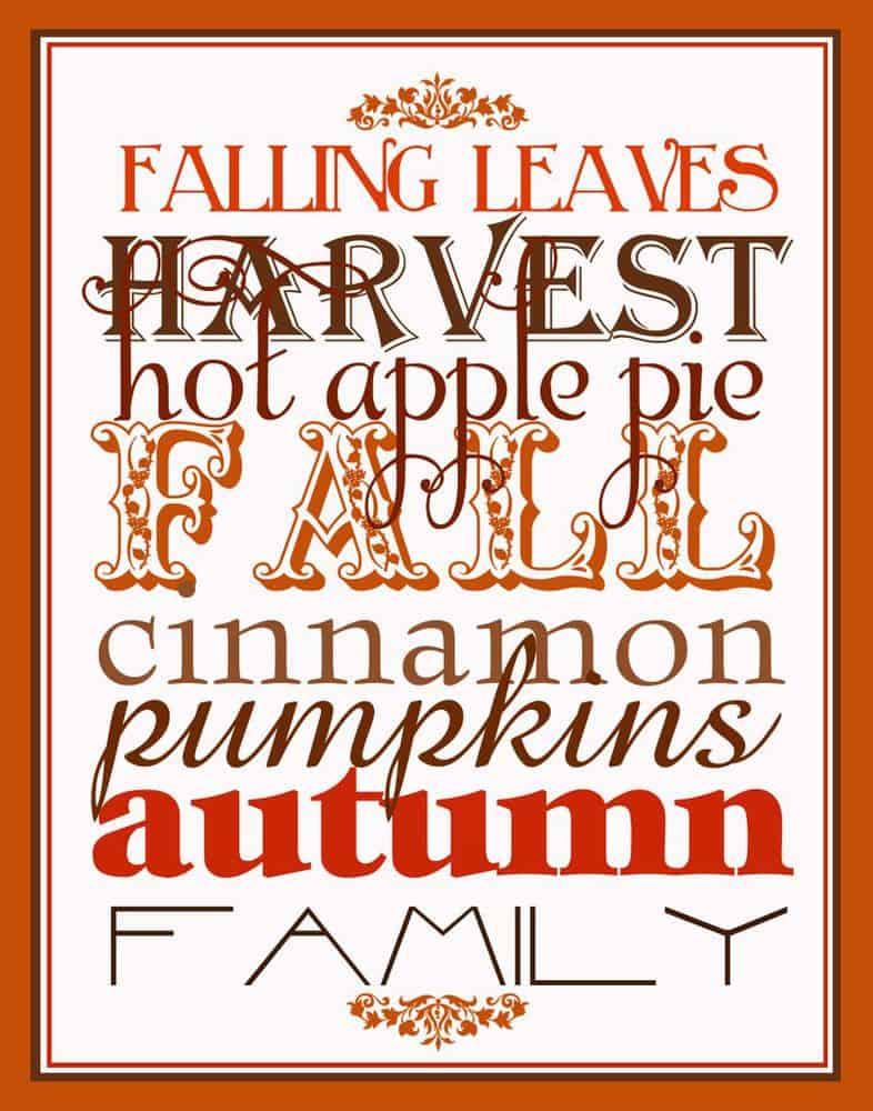 Falling Leaves print