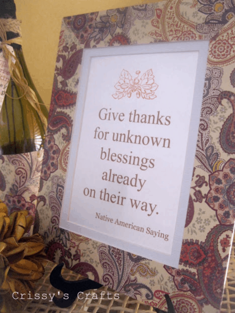 Give Thanks for Unknown Blessings Print