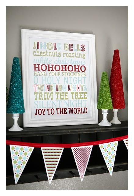 free printable Christmas art: Jingle Bells