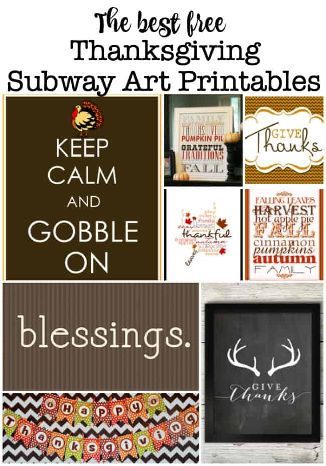 I love to get the house all decked out for Thanksgiving! So here are the 10 best free Thanksgiving subway art printables!