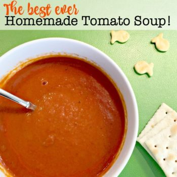 The Best EVER Homemade Tomato Soup!